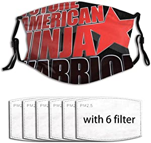 Future American Ninja Warrior Racerback Tank Top Creative Funny Pm2.5 Fives-Layer Non-Woven Fabric Meltblown Fabric Replaceable Filter Elements