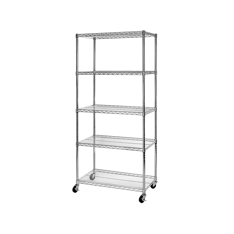 Amazon.com: Seville Classics 5-Tier NSF Steel Wire Shelving /w ...