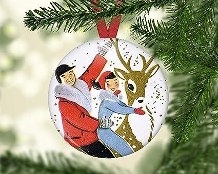 Amazon Com Georgia Barnard Christmas Reindeer Decoration For