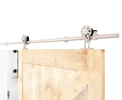 Amazon Diyhd 7ft Top Mount Spoke Wheel Barn Door Hardware
