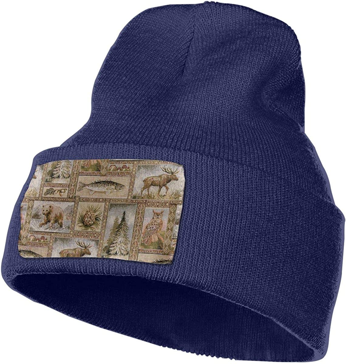 JimHappy Rustic Wilderness Hat for Men and Women Winter Warm Hats Knit Slouchy Thick Skull Cap