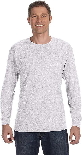 Hanes Tagless Long Sleeve T-Shirt 5586 S-XL T-Shirts Long Sleeve