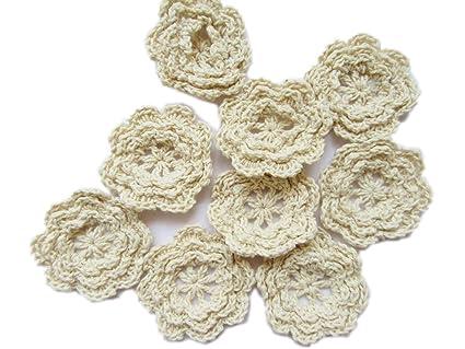 Amazon.com: YYCRAFT Aplique de crochet flor para bebé niñas ...