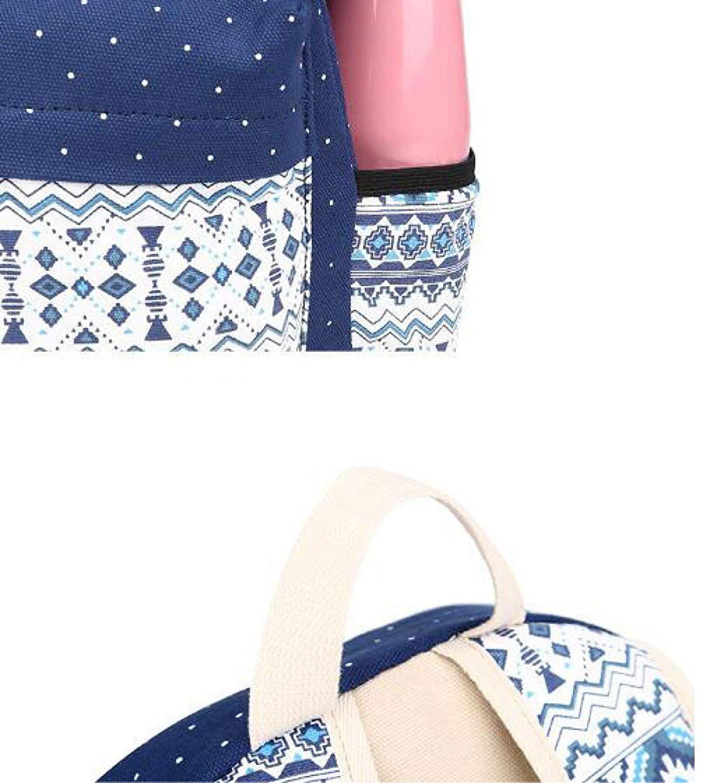 Frauen Rucksack Student Taschen Korean Casual Rucksack Canvas Canvas Canvas Printing Outdoor Umhängetasche Tasche Outdoor-Tagesrucksack (Farbe   schwarz, Größe   Einheitsgröße) B07PDBV6W3 Daypacks Verschleißfest 52ada4