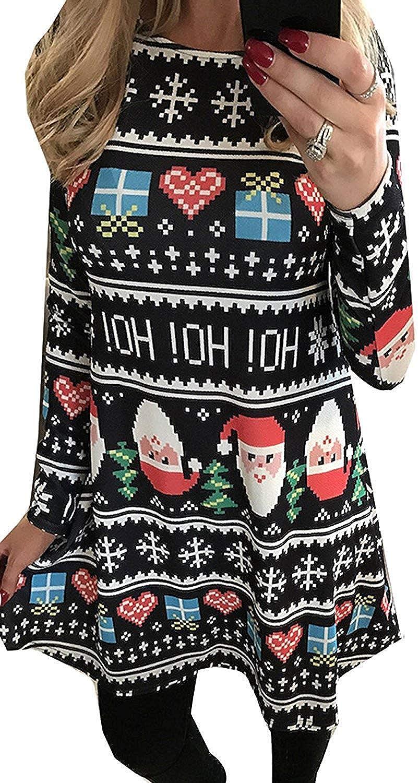 Christmas Hoho For G and PL Women's Christmas Printed Tunic Dress