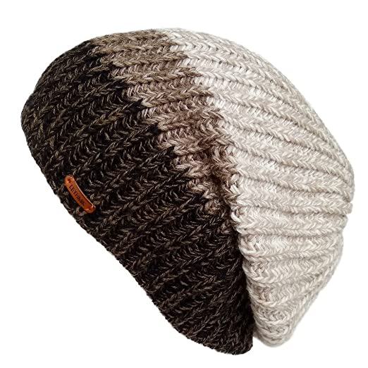 LETHMIK Unique Winter Skull Beanie Mix Knit Slouchy Hat Ski Cap For Men    Women Beige 9115786f1
