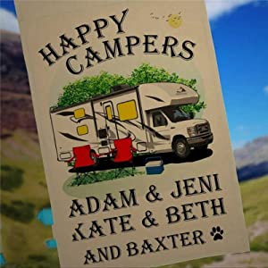 Garden Flag Personalized Class C Motorhome Camping Sign Husband & Wife Camping Partners for Life Motor Home Campsite Flag Custom Camping Flag Yard Flag Farmhouse decor Yard Holiday Decor 12x18 inch