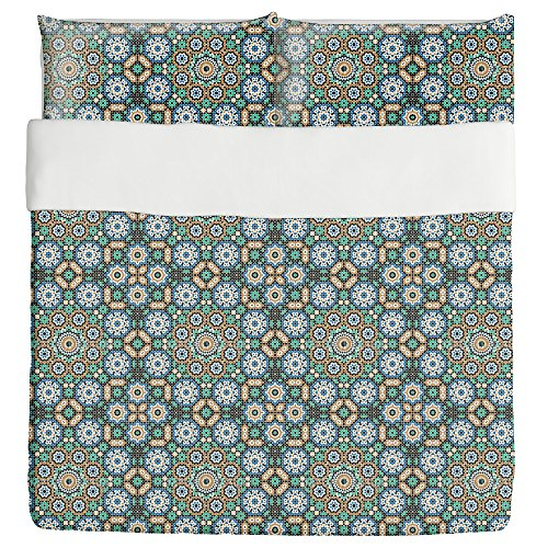 Moroccan Hammam Duvet Bed Set 3 Piece Set Duvet Cover - 2 Pillow Shams - Luxury Microfiber, Soft, Breathable by uneekee