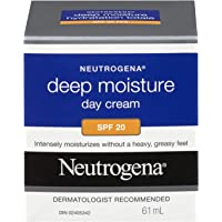 Neutrogena Deep Moisture Face Cream SPF 20 with Vitamin D3 and Glycerin, 61 mL
