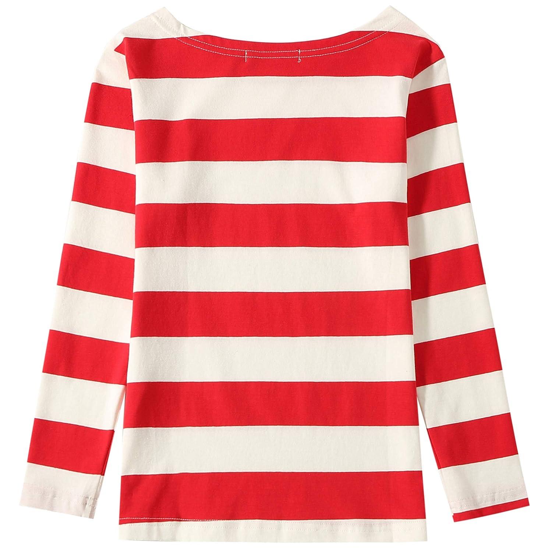 SSLR Big Girls Crew Neck Long Sleeve Cotton Stripe Tee Shirt