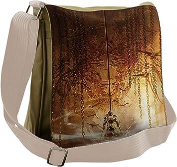 Messenger Bag,cat Skull,Unisex Adult Shoulder Backpack Cross-body Sling Bag Travel Bag