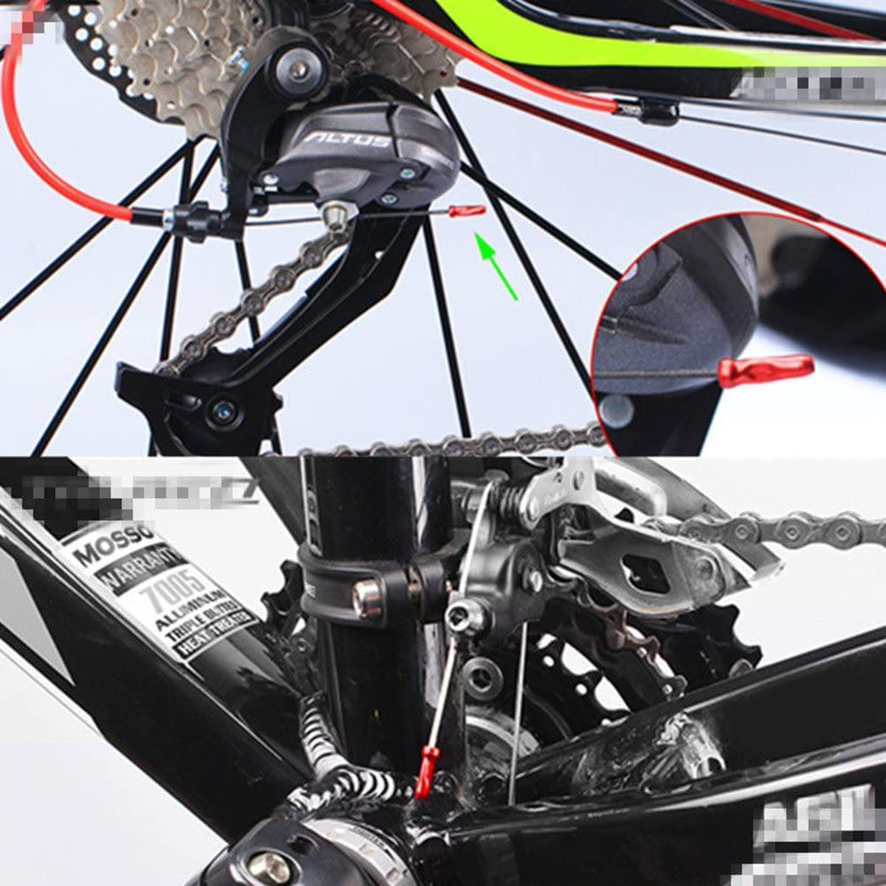 50*High quality Durable bike Alloy Derailleur Shift Inner Cable End Cap 7colors