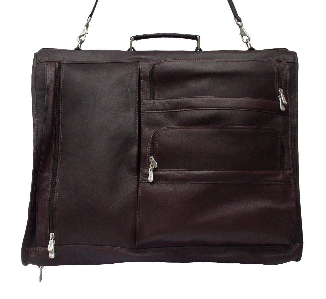 Piel Leather Traveler Executive Expandable Garment Bag in Chocolate