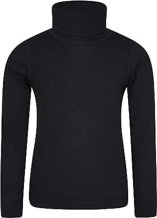 Mountain Warehouse Camiseta Talus con Cuello Vuelto para niños - Camiseta con Cuello Vuelto de rápida absorción y Ligera - Ropa para niños de Invierno