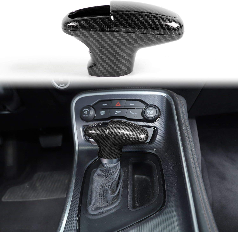 Voodonala for Challenger Charger ABS Carbon Fiber Gear Shift Trim ...