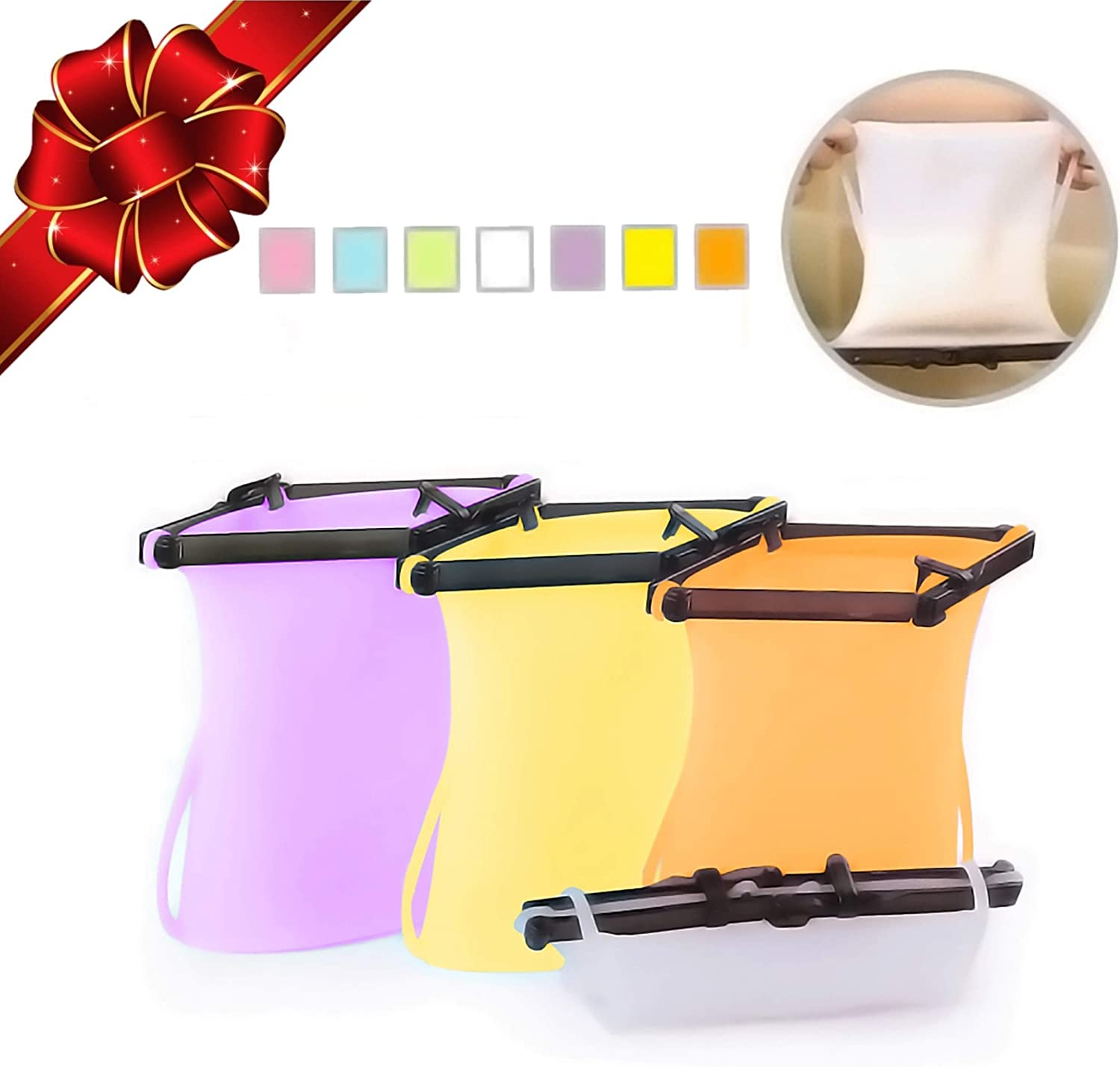 Reusable Silicone Food Bag (4) Stand-Up Flat Bottom Freezer Food Storage Bag Dishwasher Safe Best Ziplock Bags Alternative For Meats, Marinates (33 Oz, Purple + Orange + Yellow + Clear)