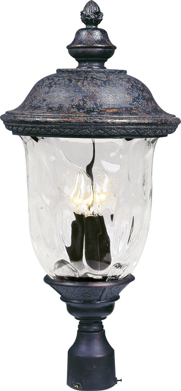 Maxim Lighting 40420WGOB Carriage House VX 3-Light Outdoor 26.5-Inch Pole/Post Lantern, Oriental Bronze Finish by Maxim Lighting