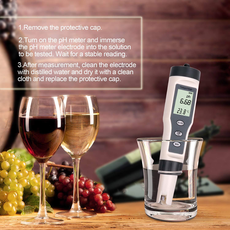 0.01 Ph High Accuracy 0-14 pH Measurement Range Ltd Ph Pocket Water Quality Tester JiNan Huiquan Electronic Co Allinone DD-9876541 Digital TDS Ph Temperature Meter 3 in 1