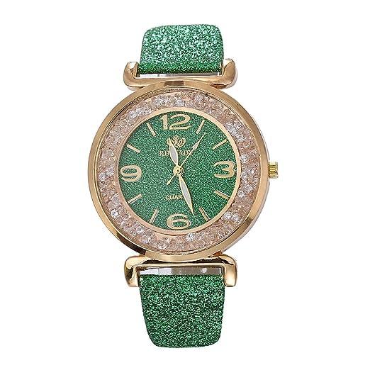 Gusspower Reloj de Pulsera Análogo clásico para Mujer de Cuarzo de Acero Inoxidable con Correa Cuero