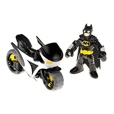Fisher-Price Imaginext DC Super Friends Batman and Batcycle: Toys & Games