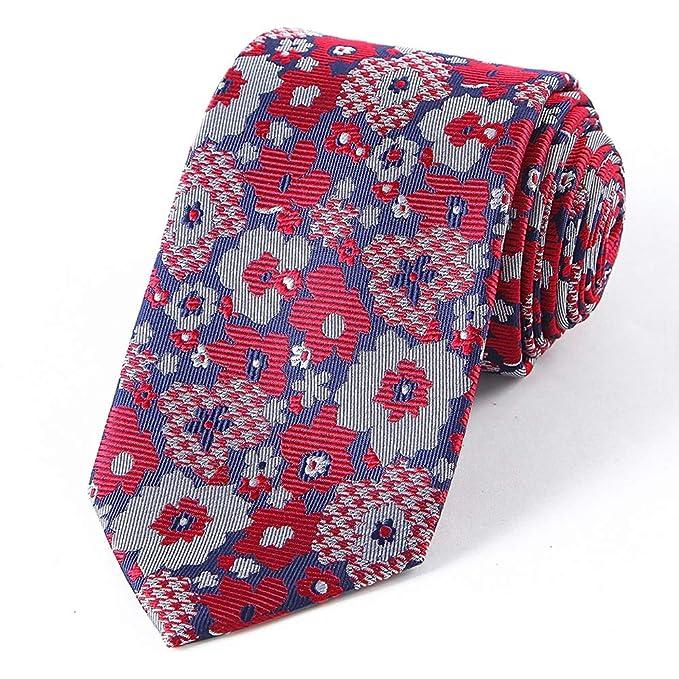 Neckchiefs Textiles Hombre Corbatas Flores Gran Jacquard Seda para ...