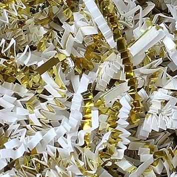 Black Paper// Gold Metallic Crinkle Shred Paper and Metallic Blend 1 LB