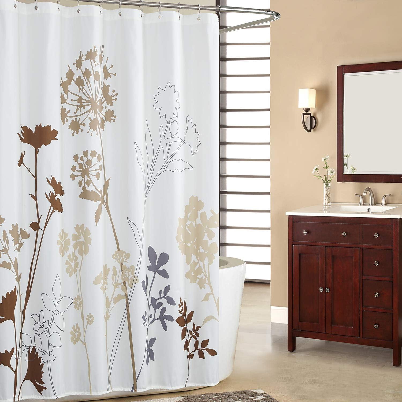 Bathroom Shower Curtain Waterproof Polyester Fabric Shower Curtain Shade