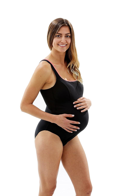Aqua Sphere Bañador de Maternidad Sisi para Mujer, Mujer, Sisi Maternity, Black/Light Pink SW022012032