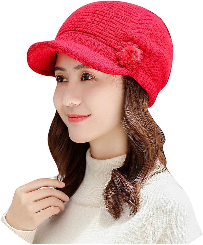 Women Winter Warm Knit Wide...