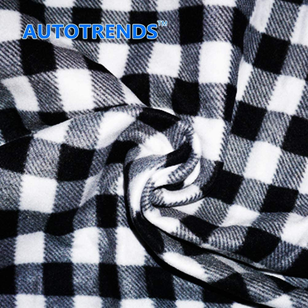 AUTOTRENDS 12V Electric Heated Blanket Large Size Warm Blankets for Body Travel Blanket
