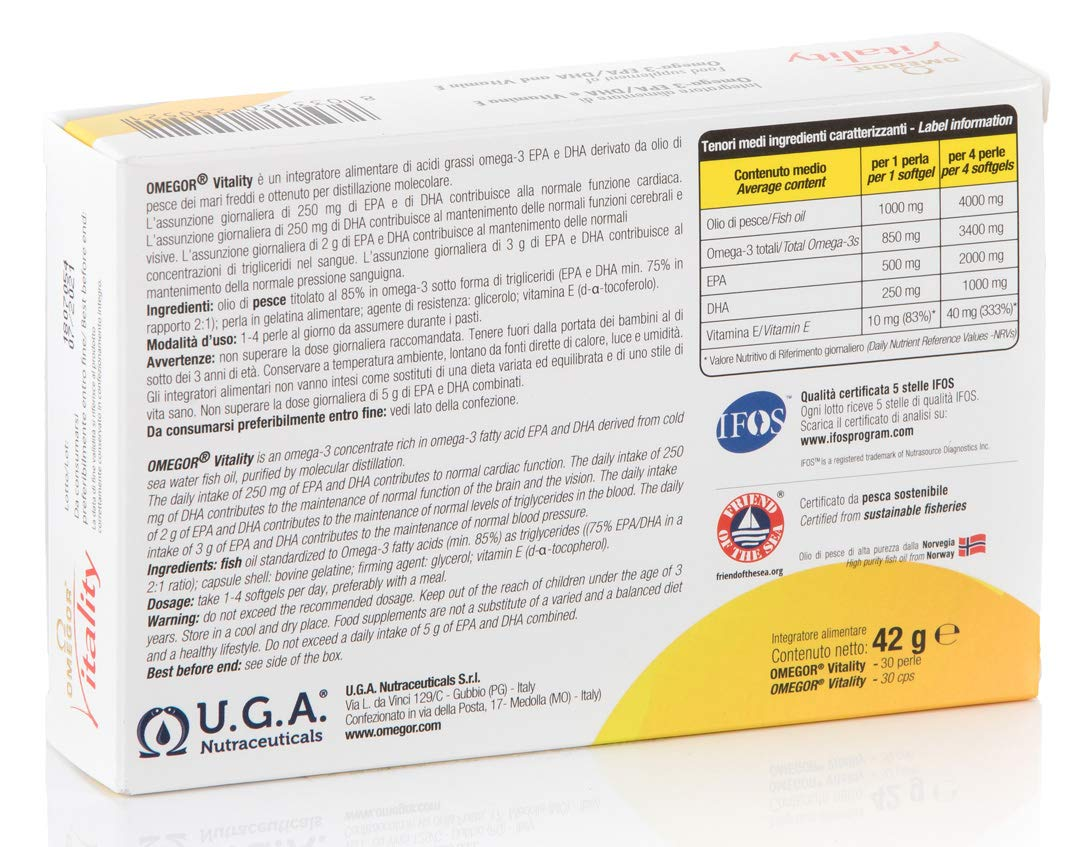 OMEGOR® Vitality 1000: ¡NUEVO con un 85% de Omega-3 TG! 5 * IFOS ...