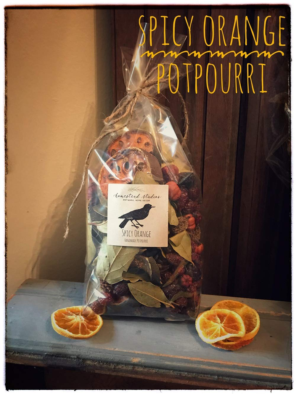 Homestead Studios Spicy Orange Potpourri - Delicious Sweet and Spicy Orange Scent - Perfect Potpourri for Holidays, Fall, Winter Summer, All Year Round by Homestead Studios (Image #1)