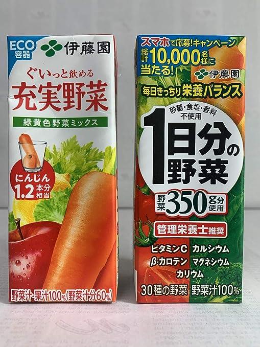 伊藤園大人気充実野菜シリーズ飲み比べセット(1日分の野菜、緑黄色野菜ミックス×各24本セット)合計48本セット