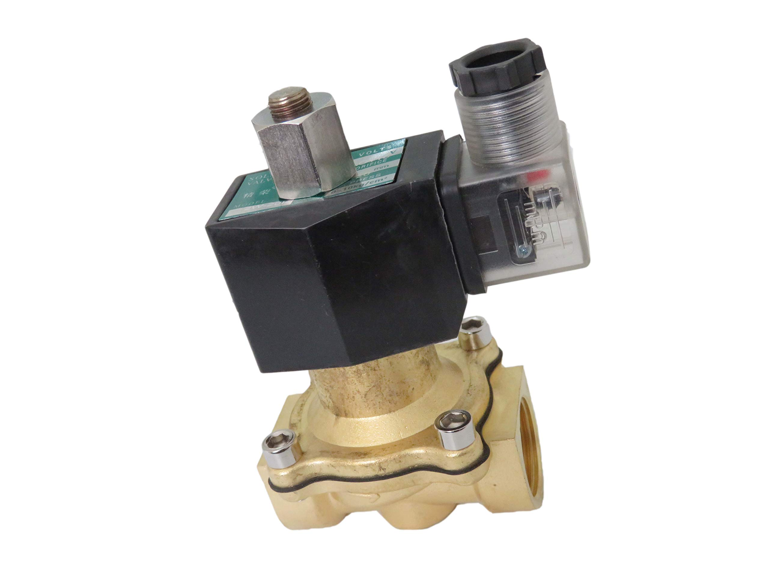 3/4 inch Normally Open NO 110V-120V AC VAC Brass Solenoid Valve NPT by Carb Omar