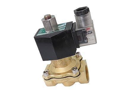 3//4 inch NORMALLY OPEN NO 110V-120V AC VAC Brass Solenoid Valve NPT