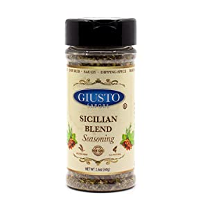 Giusto Sapore Italian Sicilian Blend Seasoning - Premium Gourmet Brand - Imported from Italy and Family Owned