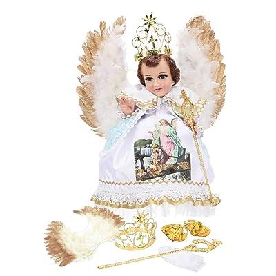 Trajecito de Angel De La Guardia para Niño Dios con accesorios Incluidos/Baby Jesus Outfit: Clothing