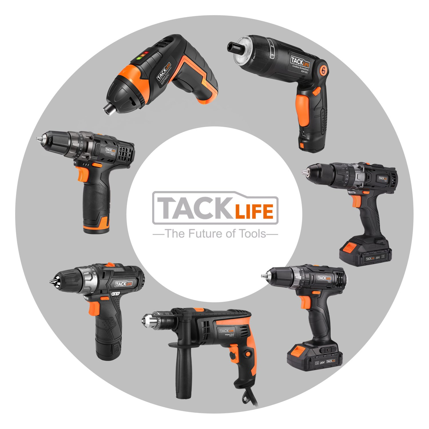 TACKLIFE Cordless Screwdriver, 3.6V Electric Rechargeable Screwdriver 2000Ahm Lithium Ion Battery MAX Torque 4N.m, 3 Flexible Position and 6 Torque Setting, Front LED and Rear Flashlight,SDH13DC by TACKLIFE