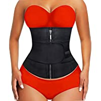 YIANNA Waist Trainer for Women Underbust Latex Sport Girdle Corsets Cincher Hourglass Body Shaper