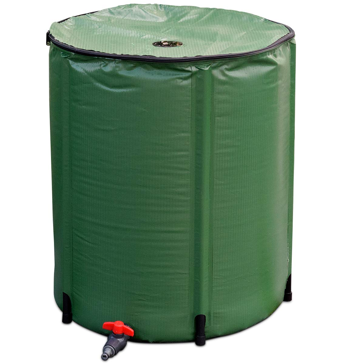 Goplus Portable Rain Barrel Water Collector Collapsible Tank w/Spigot Water Storage Container (53 Gallon) by Goplus