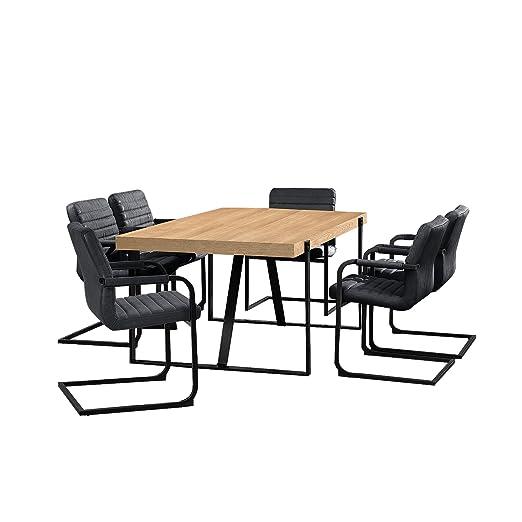 en.casa] Mesa elegante atemporal diseño de roble natural ...
