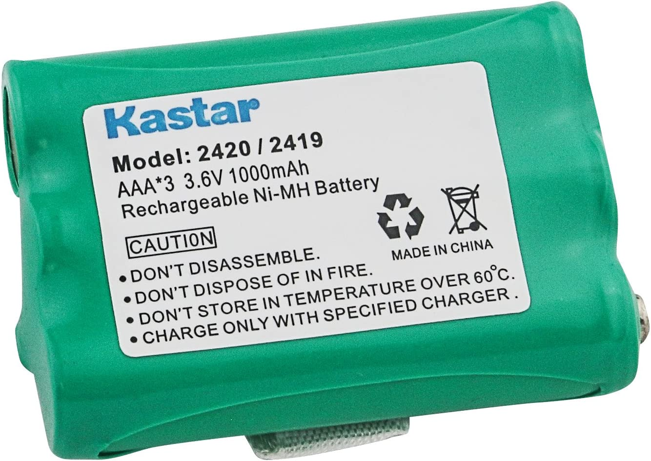 AT&T E5630 Cordless Phone Battery Replacement For Cordless Phone Battery 3 AAA - Replaces AT&T 2419, 2420, Vtech 80-5542-00, Olympia CDP models