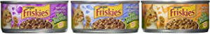 Friskies Tasty Treasures Variety Pack Canned Cat Food, 12 cans, 5.5 oz per can, Total Net Wt 4.12lb