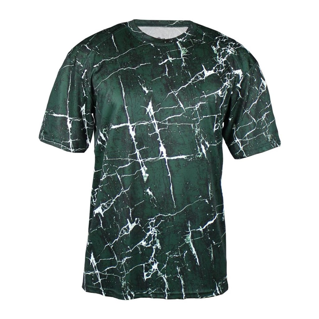 Badger Sport Youth Shocker Sublimated Tee (X-Small, Forest Shock)