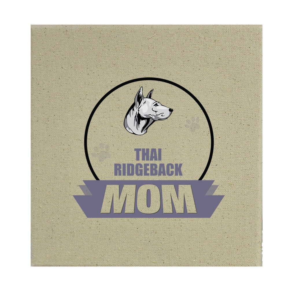Style in Print Stretched Natural Canvas Mom Thai Ridgeback Dog 12''X12''
