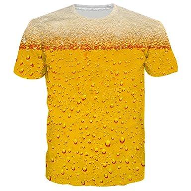 a7b8ec99556 Loveternal Unisex 3D Funny T-Shirts Graphic Print Hip Hop Novelty Short  Sleeve Casual T