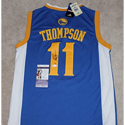 Golden State Warriors Klay Thompson Autographed Jersey WithCoa - JSA  Certified 2016 NBA Champions 855611bda