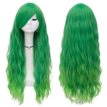10/'/' Long Clip on Bangs Mint Green Cosplay Wig Hair Extension Accessory NEW