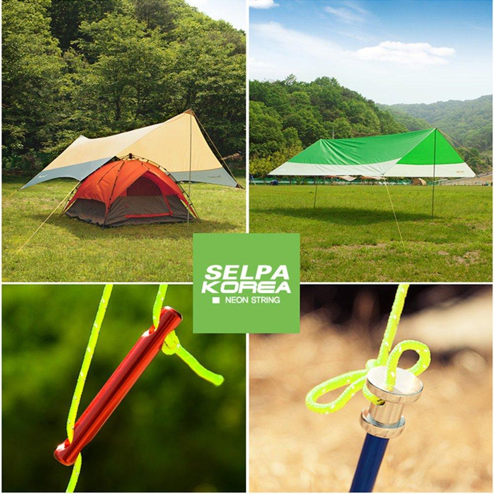 20/m de cuerda de nylon 4/mm reflectante para Camping tienda de campa/ña viento modelo Outdoor Gear cord/ón verde luminoso cuerda