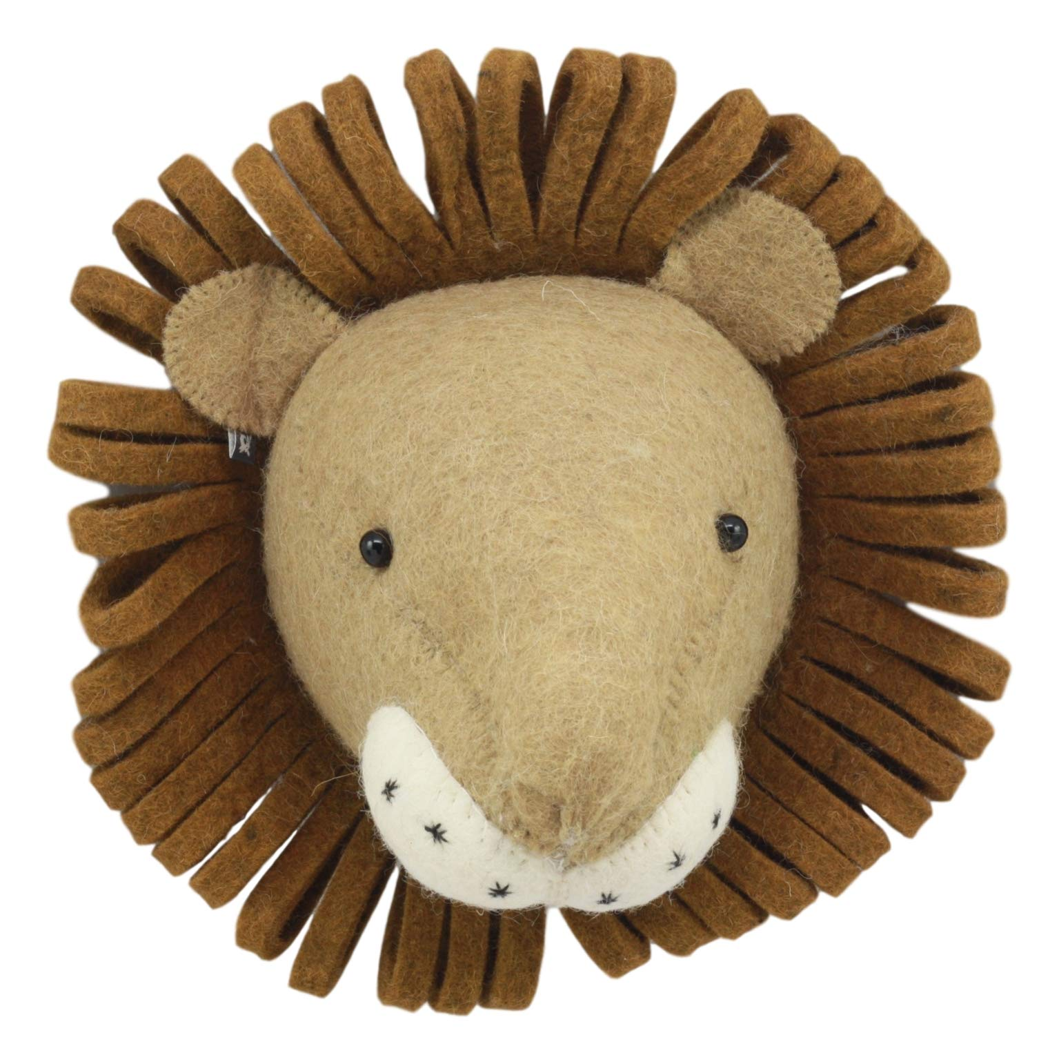 Ebros Fiona Walker England Handmade Organic Baby Animal Head Wall Decor Mini Safari Farmland Collection (Mini Lion)